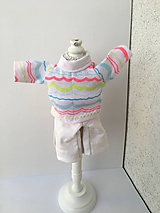 - Pyžamko, domáce oblečenie pre bábiku- 26-27 cm. - 10190002_