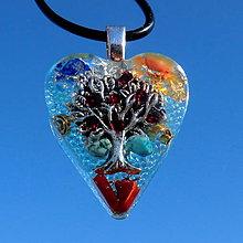 Náhrdelníky - Granátový strom Života P5 * Modrý - 10193860_