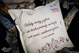 Úžitkový textil - Vankúšik hory - 10193534_
