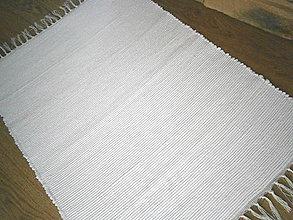 Úžitkový textil - tkany koberec biely - 10192305_