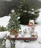 Dekorácie - Vianočná dekorácia s anjelikom - 10192595_