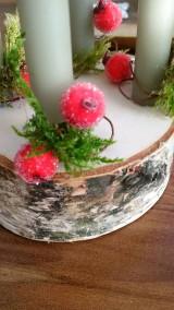 Dekorácie - Adventný svietnik - jednoduchý brezovníček s machom:-) - 10192816_