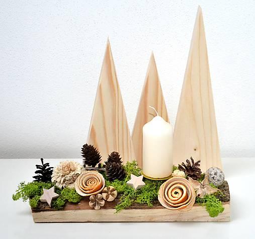Vianočný svietnik-prírodný s machom   HerAn - SAShE.sk - Handmade ... a36d259ec5f