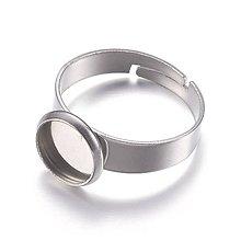 Komponenty - Základ pre prsteň s lôžkom 12mm /M1001/ - nerez.oceľ 304 - 10194118_