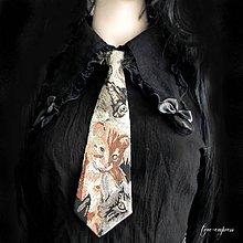 Doplnky - Dámska kravata pre milovníčky mačičiek - 10194810_