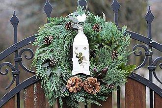 Dekorácie - Vianočný venček - prírodný - 10193307_