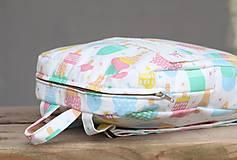 Detské tašky - Detský ruksak nanuky a zmrzlina - 10192851_