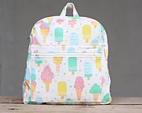 Detské tašky - Detský ruksak nanuky a zmrzlina - 10192853_