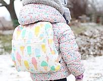 Detské tašky - Detský ruksak nanuky a zmrzlina - 10192856_