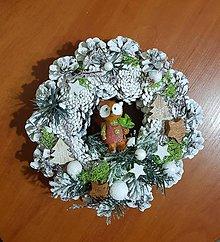 Dekorácie - vianočný veniec s líškou - 10193898_