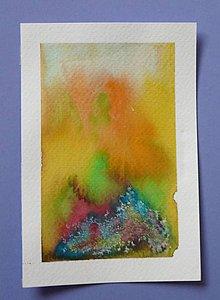 Papiernictvo - Andreas: Akvarelové pohľadnice (V plameňoch) - 10192232_