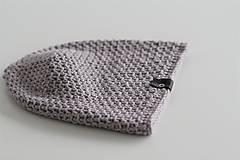 - ...pánska čiapka 100% MERINO vlna  (šedý mramor) - 10194919_