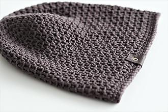 Doplnky - ...pánska čiapka 100% MERINO vlna  (hnedá mokka) - 10194905_
