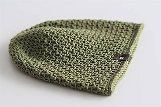 Doplnky - ...pánska čiapka 100% MERINO vlna  (zelená oliva) - 10194909_