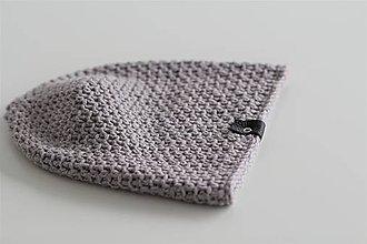 Doplnky - ...pánska čiapka 100% MERINO vlna  (šedý mramor) - 10194919_