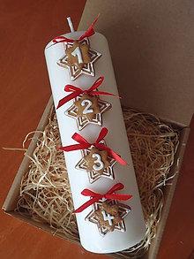 Svietidlá a sviečky - Adventná svieca - 10194525_
