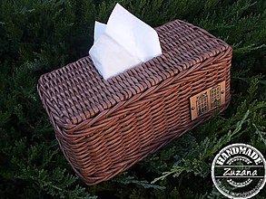 Krabičky - Obal na papierové vreckovky ihneď k odberu - 10193994_