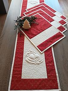 Úžitkový textil - Vianočná sada - štóla + prestieranie - 10194120_