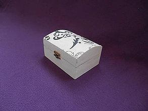 Krabičky - šperkovnička black and white - 10191476_