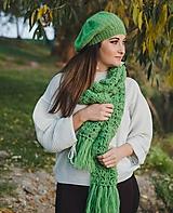Čiapky - Zelená baretka - 10192806_