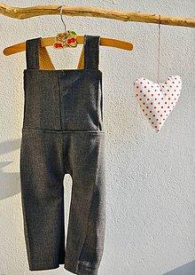Detské oblečenie - Trakové nohavice - 10192326_