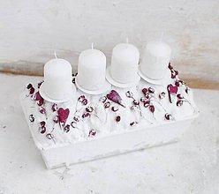 Svietidlá a sviečky - Biely Piškotovník s lesnými plodmi - 10191922_