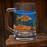 Nádoby - Pohár na pivo - pre rybára - 10194209_