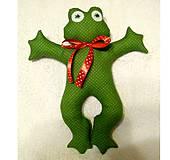 Hračky - Žaba ŽABKA Žanetka (Zelená) - 10191877_