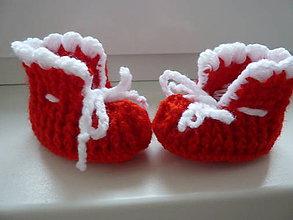 Topánočky - Háčkované papučky - 10192600_