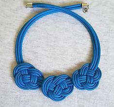 Náhrdelníky - Paracord náhrdelník Hanka- modrý - 10194253_