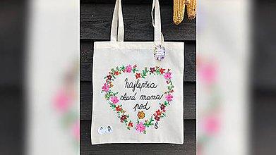 Nákupné tašky - ♥ Plátená, ručne maľovaná taška ♥ (MI9) - 10194276_