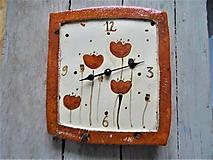 acaefab8ed25 makové hodiny červené - 10191909