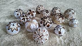 Dekorácie - Sada vianočných gúľ 6+1 - 10192808_