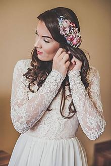 """Ozdoby do vlasov - Svadobný venček """"Vintage romantic"""" (Červená) - 10194601_"""