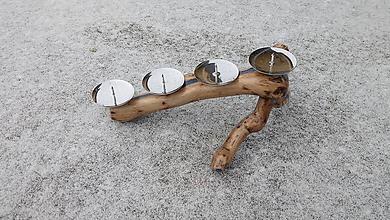 Svietidlá a sviečky - Drevený svietnik - možnosť použiť ako adventný svietnik - 10194695_