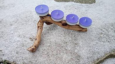 Svietidlá a sviečky - Drevený svietnik - možnosť použiť ako adventný svietnik - 10194699_