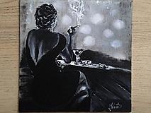 Obrazy - žena v bare - 10192113_