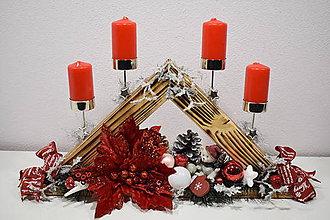 Svietidlá a sviečky - Adventný svietnik: Veselé Vianoce T50404 - 10192156_