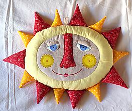 Textil - SLNIEČKO elipsa (vankúš-hračka) - 10193771_