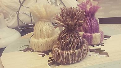Drobnosti - Vianočné čiapočky - 10194892_