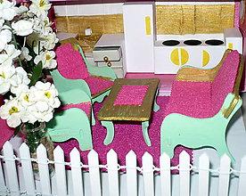 Hračky - Ružová kuchyňka so sedením - 10193727_