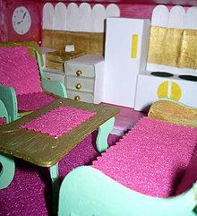 Hračky - Ružová kuchyňka so sedením - 10193748_