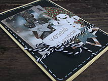 Papiernictvo - ...pohľadnica vianočná s hviezdičkami... - 10193940_