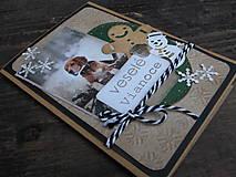 Papiernictvo - ...pohľadnica vianočná s vločkami... - 10193976_