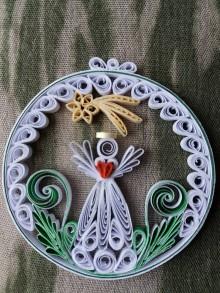 Dekorácie - Vianočná dekorácia - Anjel s kométou - 10193462_