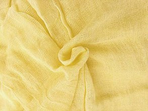 Šály - krémovo-žltý bavlnený šál skladom:-) - 10192894_