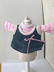 Hračky - Šatová suknička  a tričko pre bábiky- 25-27 cm - 10193383_