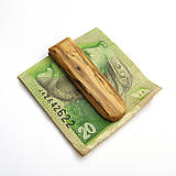 Špaltovaná agátová spona na peniaze