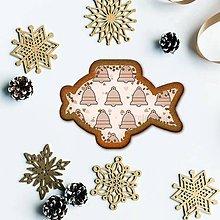 Grafika - Vianočné grafické perníky so vzorom - vianočné stromčeky zvončeky (vianočný kapor) - 10191660_