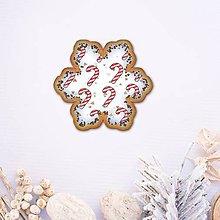 Dekorácie - Vianočné grafické perníky so vzorom - vianočné lízatká - 10191775_